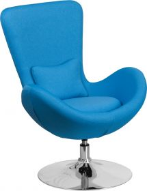 Aqua Fabric Egg Series Reception-Lounge-Side Chair [CH-162430-AQ-FAB-GG]