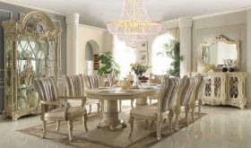 Aquarius Traditional Dining Room Set in Cream