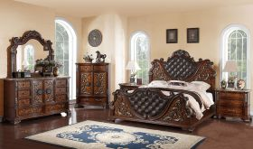 Arbour Traditional Bedroom Set in Brown