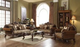 Arcata Traditional Living Room Set in Cherry Oak