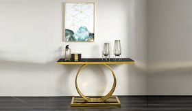 Arlene Traditional  Console Table in Golden