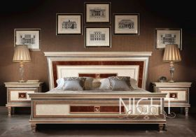 Dolce Vita Night Bedroom Set in Rose Gold Finish