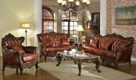 Arthur Traditional Living Room Set in Brown