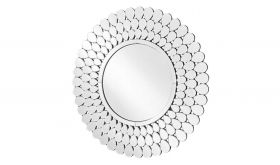 "Ava Modern 40"" Round Wall Mirror in Clear"