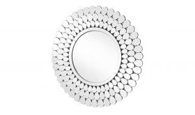 "Avoca Modern 31.5"" Round Wall Mirror in Clear"