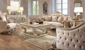 Barbour Traditional Living Room Set in Golden Silver & Metallic Gold