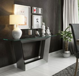Barcelona Modern Console Table in Old Silver