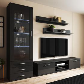 Barstow Modern Wall Unit Entertainment Center