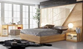 Batavia Modern Bedroom Set in Brown & Gray