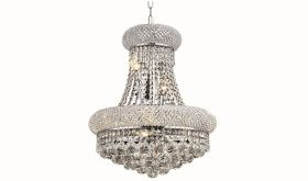 Bath Transitional 8 Lights Hanging Fixture Chandelier in Chrome Finish