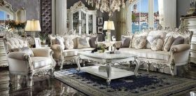 Bavaria Traditional Living Room Set in Antique Pearl