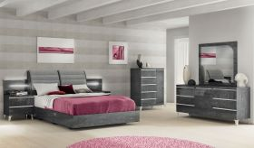 ESF Elite Bedroom Set in Grey Birch