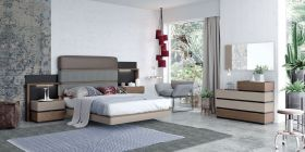 ESF Leo Bedroom Set in Grey Lacquer