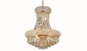 Belfast Transitional 8 Lights Hanging Fixture Chandelier in Gold Finish