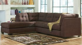 Benchcraft Maier Sectional with Left Side Facing Chaise in Walnut Microfiber [FBC-2349LFSEC-WAL-GG]