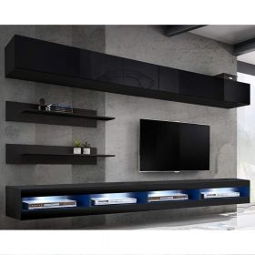 Bessemer Wall Mounted Floating Modern Entertainment Center (Size I1)