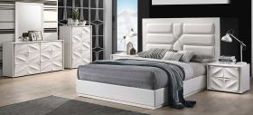 Bessemer Modern Bedroom Set in Matte White