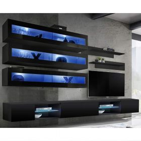 Birmin Wall Mounted Floating Modern Entertainment Center (Size J2)