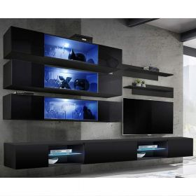 Birmin Wall Mounted Floating Modern Entertainment Center (Size J3)