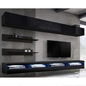 Birmingham Wall Mounted Floating Modern Entertainment Center (Size I1)