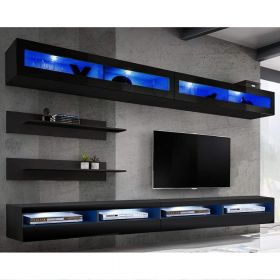 Birmingham Wall Mounted Floating Modern Entertainment Center (Size I2)