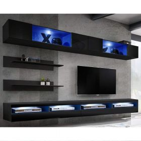 Birmingham Wall Mounted Floating Modern Entertainment Center (Size I3)