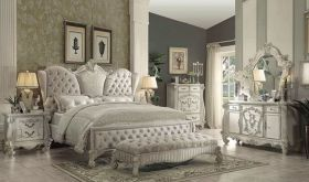 Blaby Traditional Bedroom Set in Ivory & White