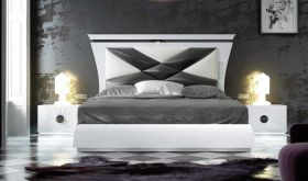 Bloomfield Modern Bedroom Set in White & Gray