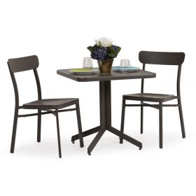 Gaffney Outdoor Dining Set in Charcoal & Charcoal