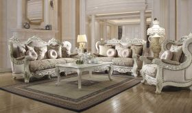 Bon Traditional Living Room Set in Antique Ivory