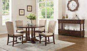 Borg III Traditional Dining Room Set in Cherry
