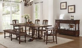 Borg Traditional Dining Room Set in Cherry