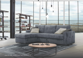 Agra Modern Left Sectional with Bed in Dark Grey