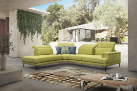Carter Modern Sectional Sofa in Yellow