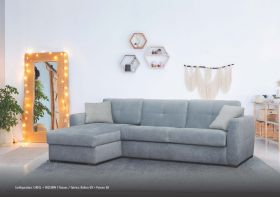 Murano Modern Sectional with Bed in Blue