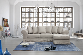 Traviata Modern Right Sectional Sofa in Grey