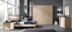 Ynez Contemporary Bedroom Set in Natural & White