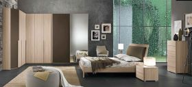 Julian Contemporary Bedroom Set in Natural
