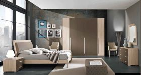 Corinth Contemporary Bedroom Set in Natural