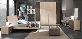 Rockland Contemporary Bedroom Set in Natural
