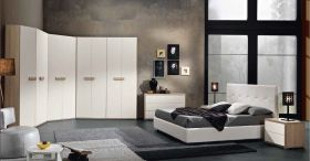 Lanesboro Contemporary Bedroom Set in Natural & White