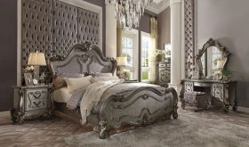Broxtowe Traditional Bedroom Set in Antique Platinum