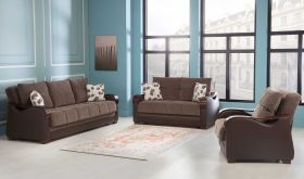Brushton Convertible Living Room Set in Armoni Brown