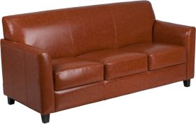 Hercules Diplomat Series Cognac Leather Sofa [BT-827-3-CG-GG]