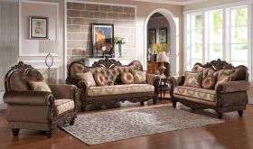 Buckeye Traditional Living Room Set in Cherry
