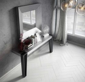 Cadiz Modern Console Table in Silver