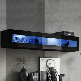 Calexico Wall Mounted Floating Hanging Media Cabinet