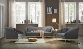 Calhoun Contemporary Living Room Set in Gray