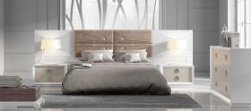 Campora Modern Bedroom Set in White & Gray