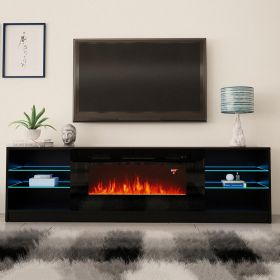 "Canyon Modern Electric Fireplace 79"" TV Stand"